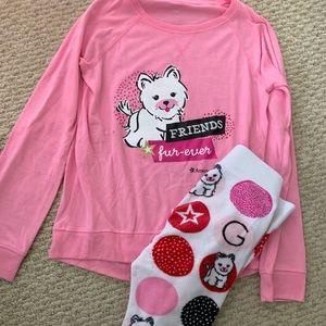 American Girl Pajamas 12 Coconut Puppy